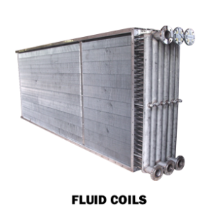 fluid coils for heating and cooling in the utilities industry